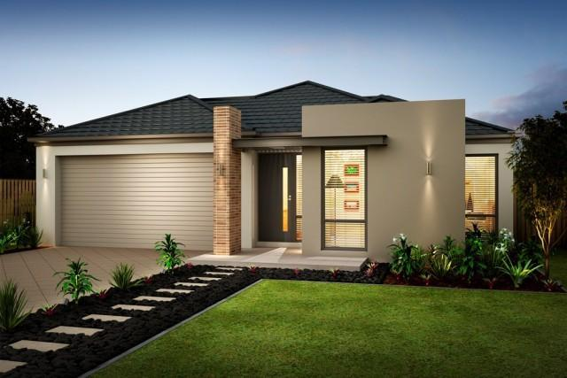 Home design single storey for Wide frontage house plans