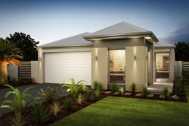 Home design single storey for 10m frontage home designs perth